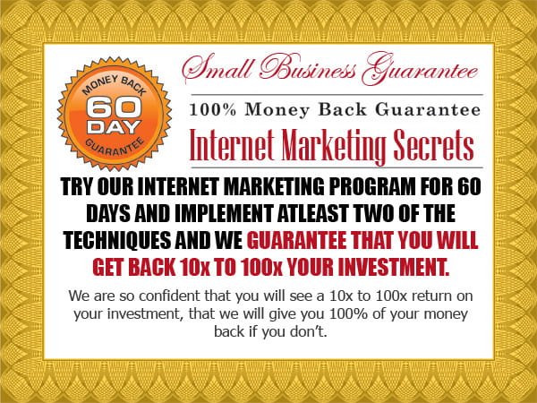 Small Business Marketing Program Guarantee